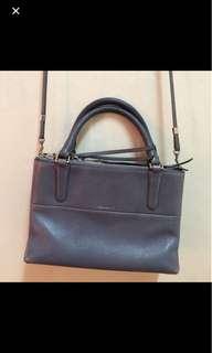 Coach pebbled sling bag