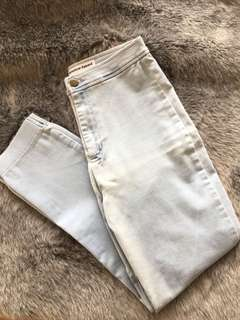 American Apparel High Waisted Cropped Jeans