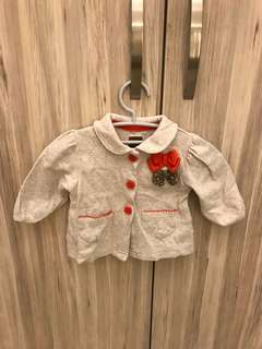Baby girl fashionable jacket (0-3 months)