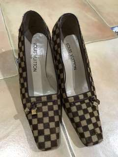 Louis Vuitton Damier Sauvage Pony Hair Pumps