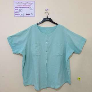 Plus Size Turquoise Short Sleeved Top