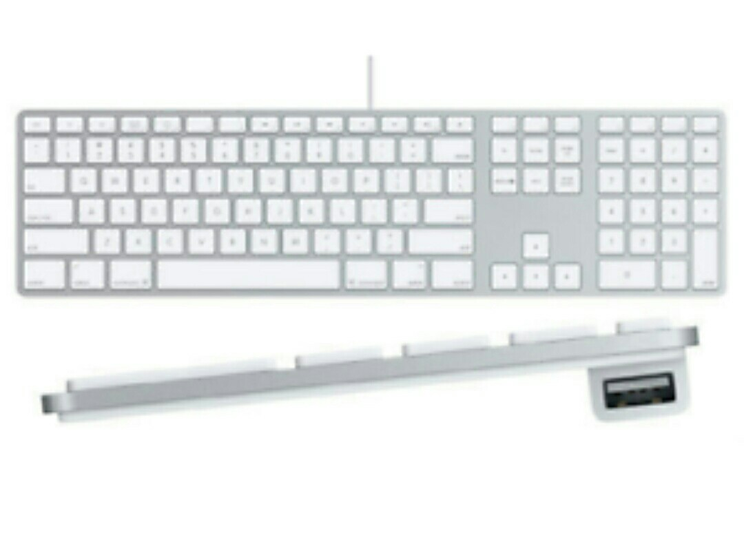 Apple Ultra-Thin Wired Keyboard with Numeric Keypad , Electronics ...