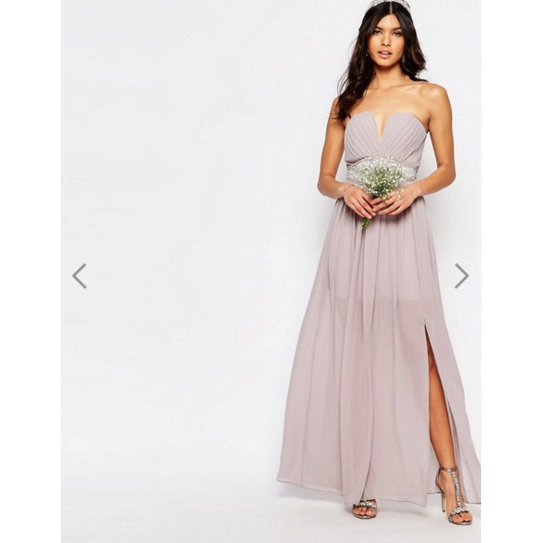 ASOS TFNC Lilac Purple Maxi Wedding Bridesmaid or Evening Dress ...