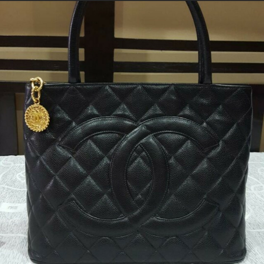 74926b68bd86 Authentic Vintage Chanel Caviar Medallion Tote Bag, Luxury, Bags & Wallets,  Handbags on Carousell
