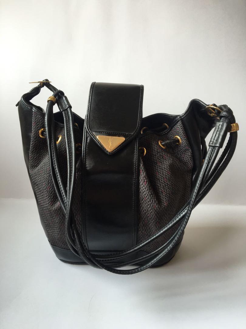 12df586a3575 Authentic YSL Vintage Bucket Bag