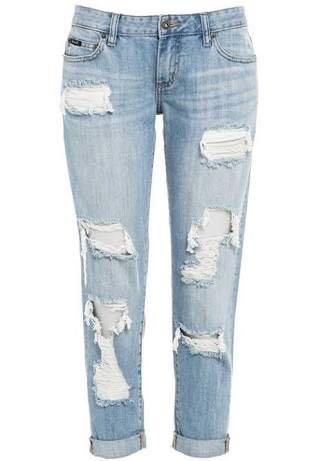 Bardot denim distressed boyfriend jeans