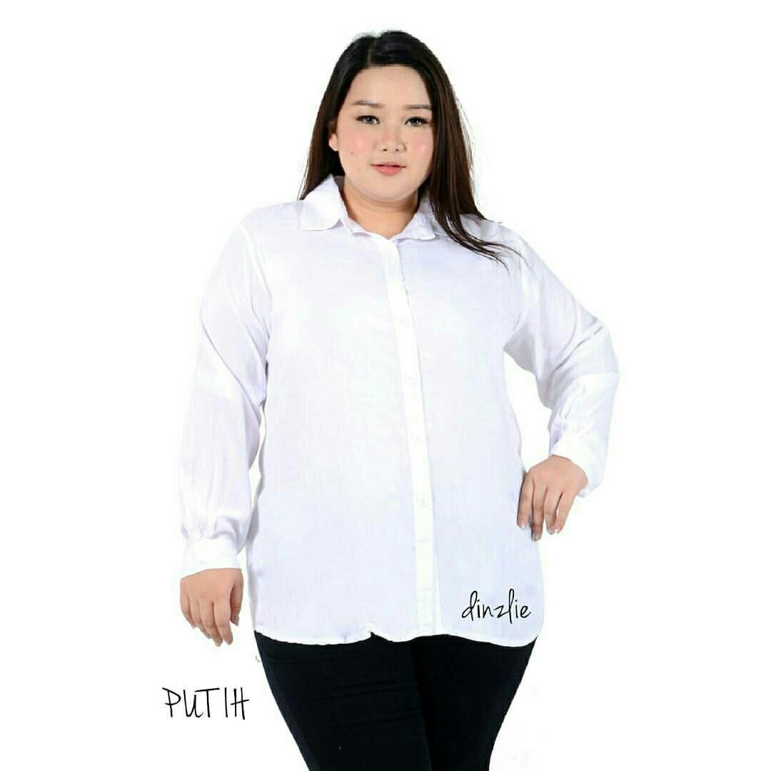 ✖SOLD OUT✖ Basic Shirt / Kemeja Polos / Kemeja Jumbo Bigsize / Kemeja Putih / XXL, Women's Fashion, Women's Clothes on Carousell