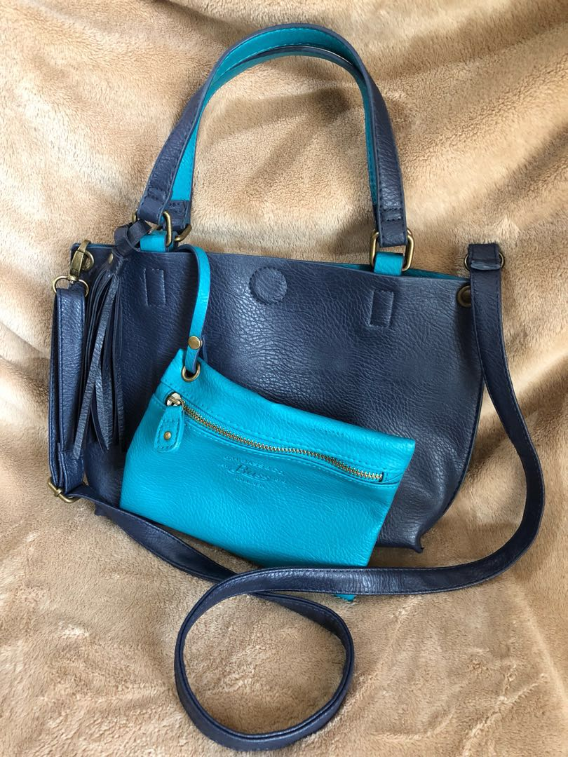 82eed4de21c Bass and Co. Reversible Leather Sling Bag, Women's Fashion, Bags ...