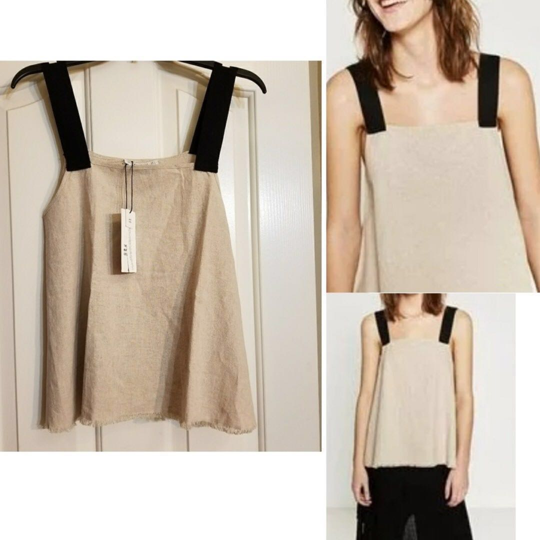 344a6566c1 BNWT ZARA KNIT LINEN TOP ( SUITABLE FOR UK6 TO 12- HAS A OVERSIZED ...