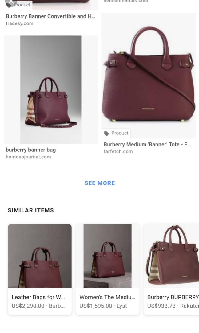 3d9857566f28 Burberry Banner Violet Bag