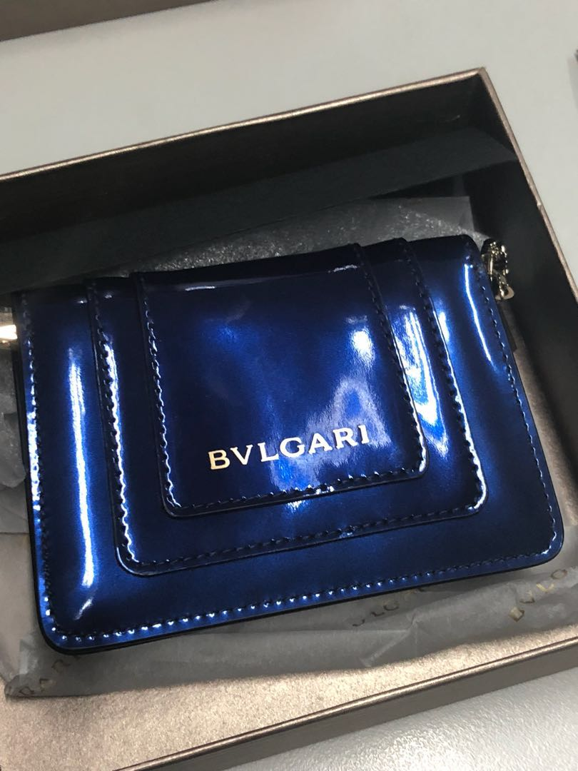 Bvlgari credit card holder with chain