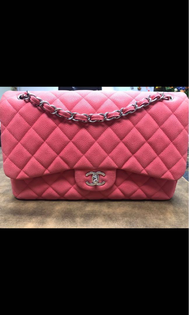 2fcdfa38aeea Chanel classic jumbo double flap suede caviar SHW, Luxury, Bags ...