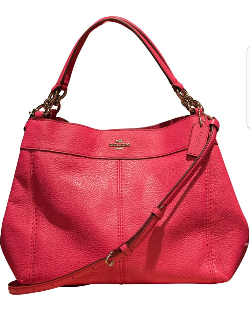 3f94ea780559 COACH SHOULDER BAG SMALL LEXY MAGENTA