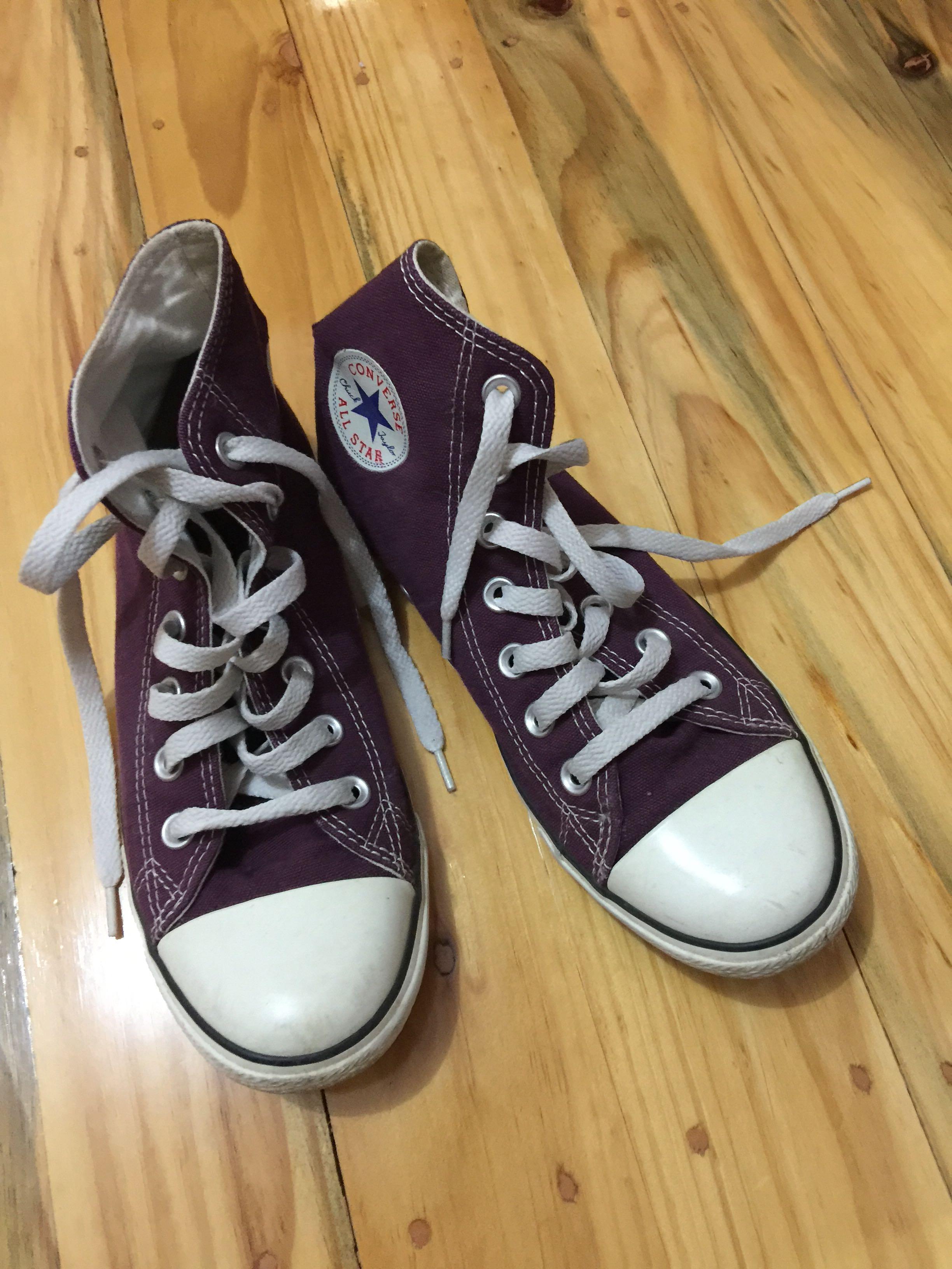 ca657277c17e Converse High Rise Dark Purple Plum Sneakers
