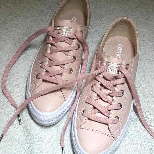 6986a29109b2a8 Converse Nudes Light Pink Evening Sand Nude Sneakers