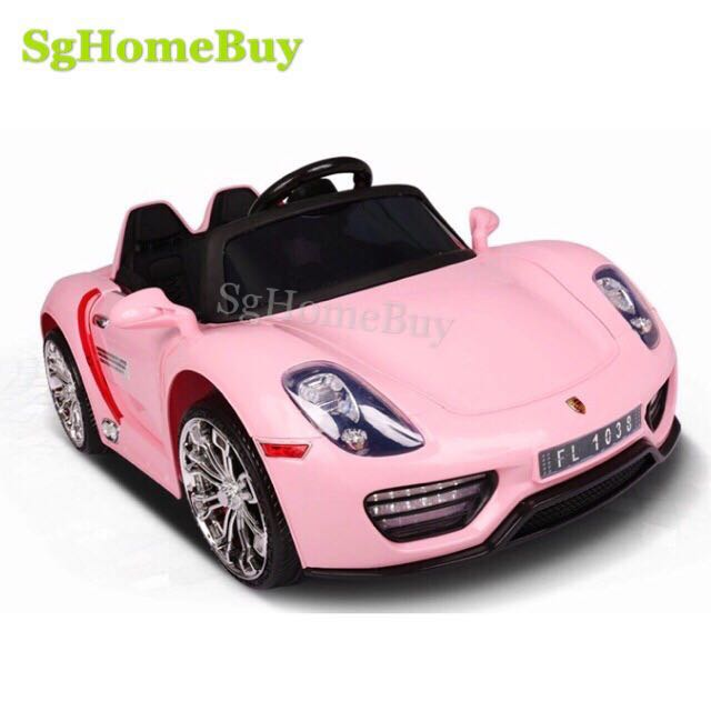 In Stock Pink Porsche Electric Car For Kids Babies Kids Toys