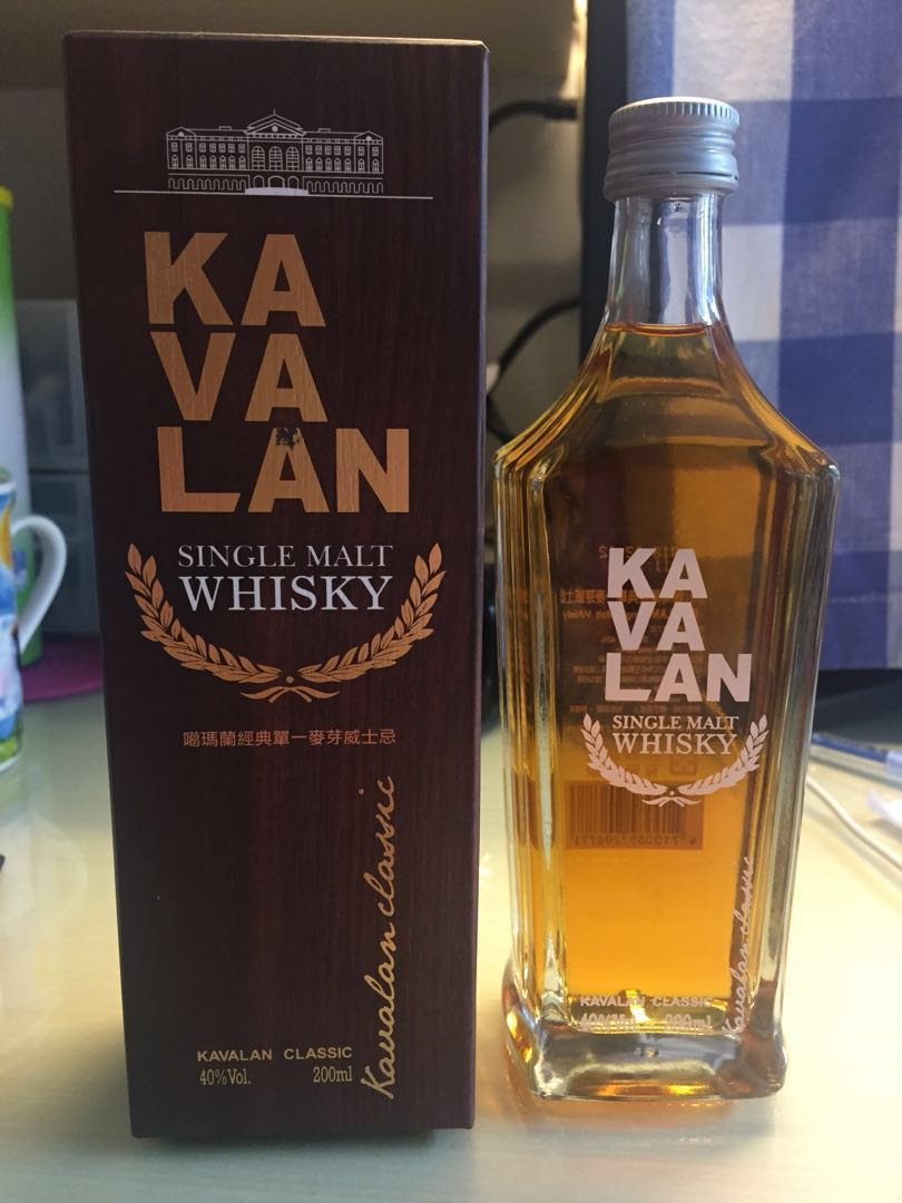 Kavalan single malt Whisky - 200ml (2018年4月剛從台灣買入)
