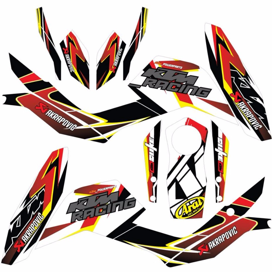 Ktm duke decal sticker motorbikes motorbike accessories on carousell