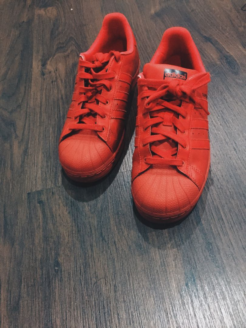 Limited Edition Red Adidas Superstars