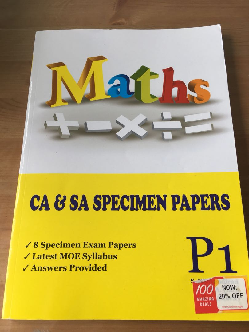 Maths CA and SA specimen papers for Primary 1., Books & Stationery ...
