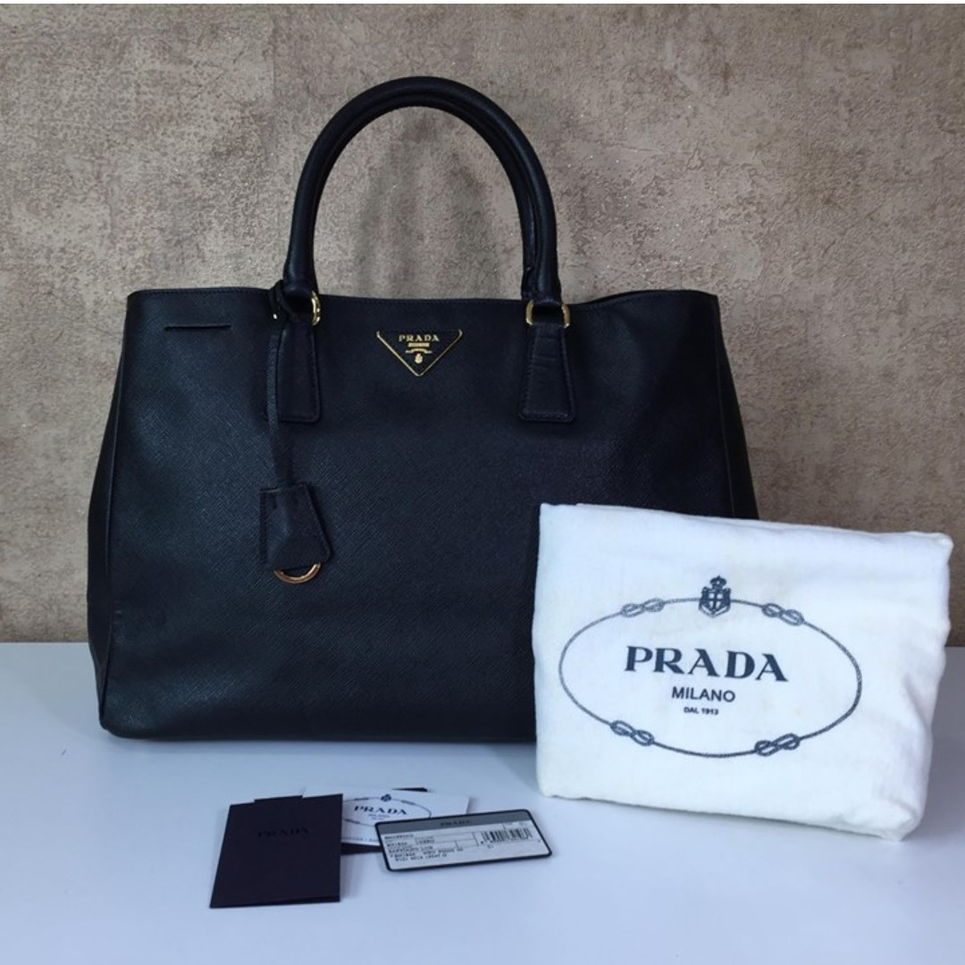 52a7476b2d3e ... netherlands prada bn1844 saffiano leather luxe shopping tote luxury bags  b7f7d c8384