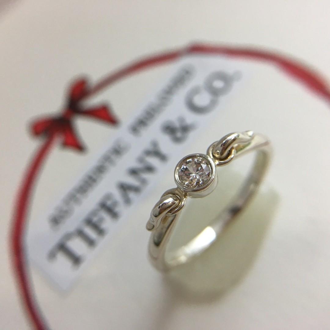 d04dc6d3c Rare Authentic Tiffany & Co. Elsa Peretti Swan Diamond Silver Ring ...