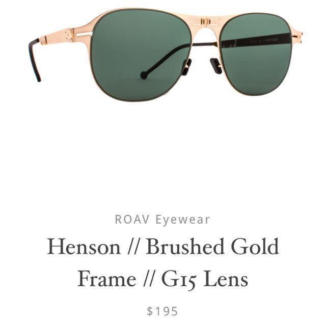 ab3229a46a50 Roav Henson Brushed Gold Frame Shades