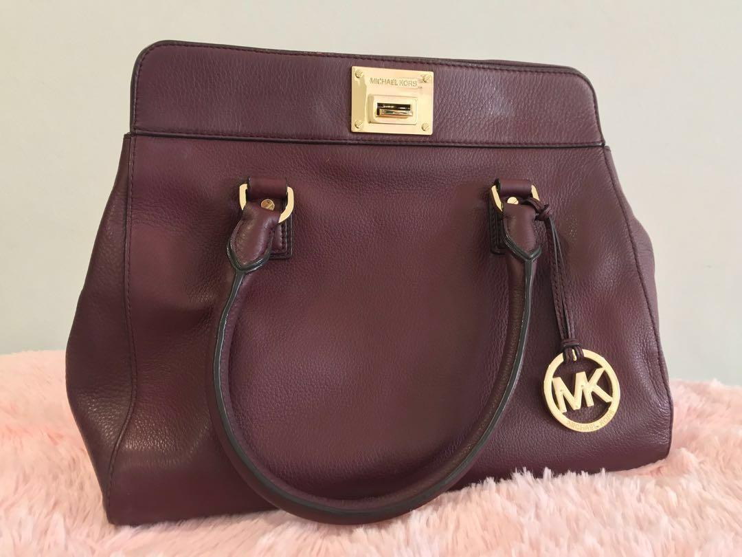 5c3f106a0acb SALE!! MK AUTHENTIC Maroon handbag