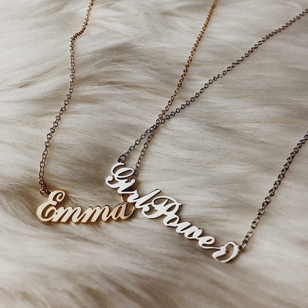 Sterling Silver Name Necklace, Women's Fashion, Jewellery