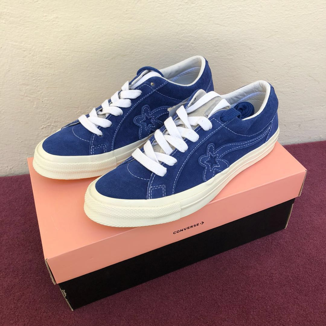 365a5e4735cf ... US7 UK7 Golf Le Fleur Ox One Star Suede (Blue)