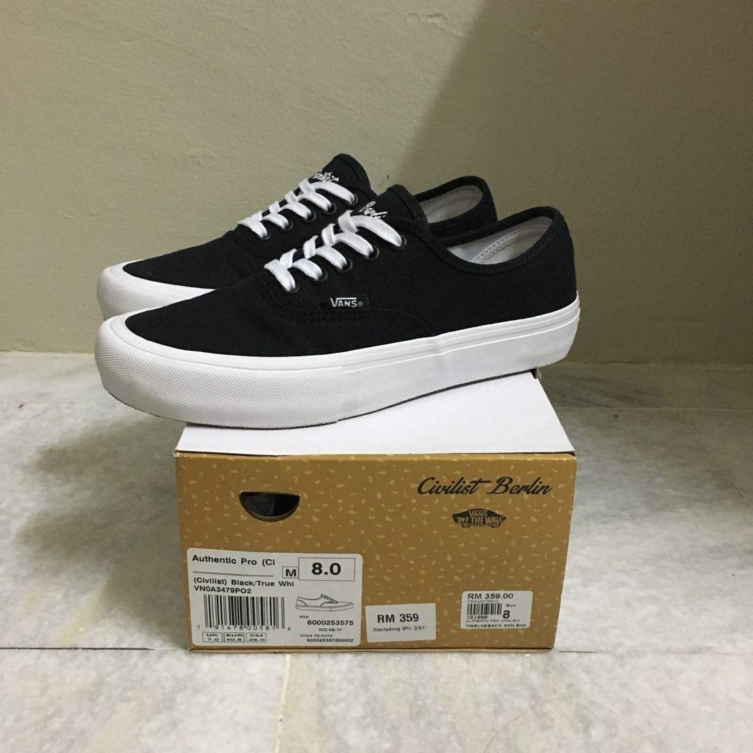 7464282521 US8 Vans X Civilist Berlin (Authentic Pro)