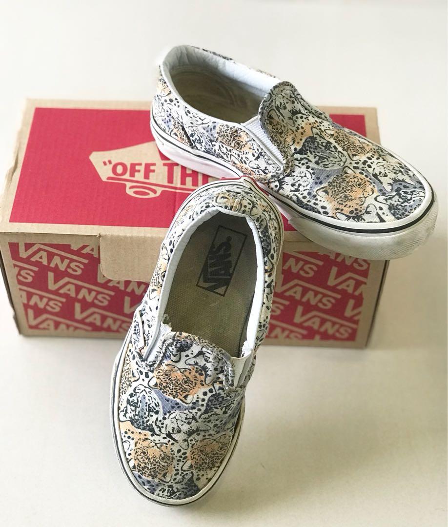 3cf2b5552c VANS KIDS Slip On Shoes (Wild Cat)