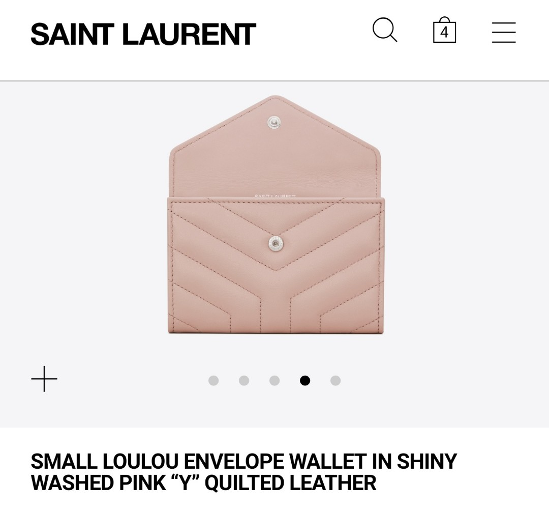 "AUTHENTIC NEW YSL SMALL LOULOU ENVELOPE WALLET IN ""Y"" QUILTED LEATHER"