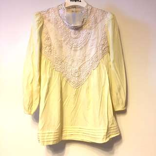Lace patched ladies top