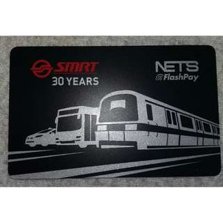 Limited Edition SMRT 30th Anniversary Nets Flash Pay Card (NON USEABLE)