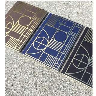 Art Deco Lines notebook