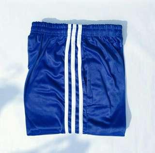 Side Stripe Blue Track Pants
