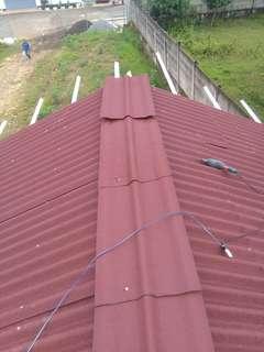 Pemasangan atap bajaringan