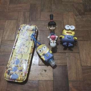 (get all) minion toys + pencil case