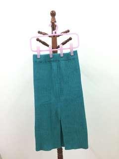 🚚 珊瑚藍綠色毛線裙