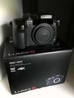 Panasonic Lumix DMC-GH4 Mirrorless Micro Four Thirds Digital Camera (Body Only)