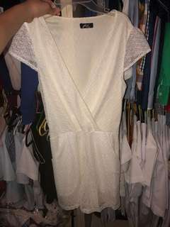White Formal Romper (worn once)
