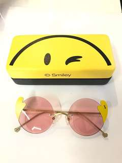 SmileyWorld Pink Tinted Sunglasses 粉紅透銀鏡
