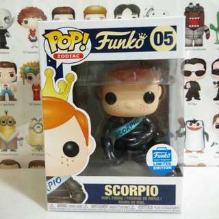 Funko Pop Freddy Scorpio Horoscope Exclusive Zodiac Limited Edition Vinyl Figure Collectible Toy Gift