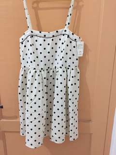 NEW! Lowrys Farm white polkadot dress