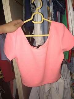 H&M Hot Pink Crop Top
