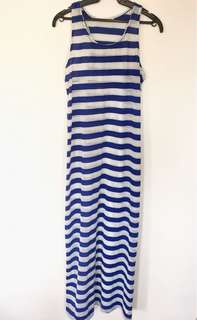 Jeanna charlotte long dress (striped)