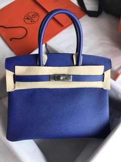 Hermes Birkin 30cm 7T電光藍 epsom皮銀釦C