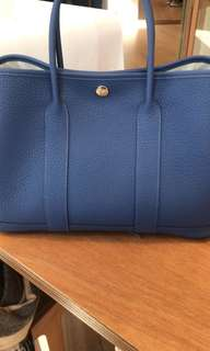 Hermes Garden Party 30 blue 全新