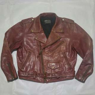 jaket kulit ramones size XL